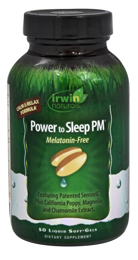 Irwin Naturals - Power to Sleep PM Melatonin-Free - 50 Softgels
