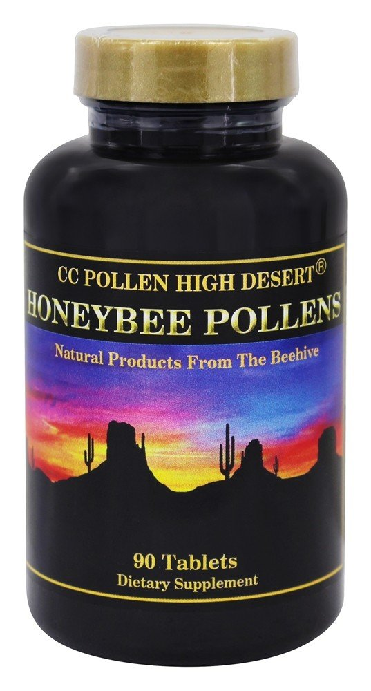 CC Pollen - High Desert Honeybee Pollens - 90 Chewable Tablets