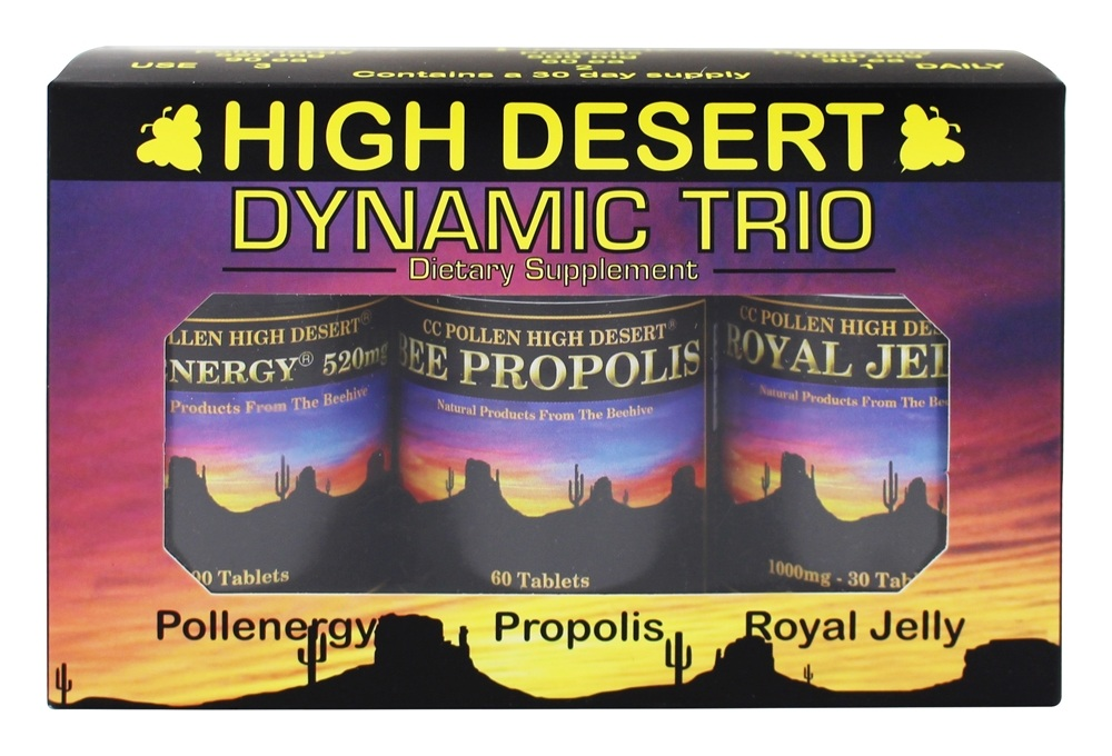 CC Pollen - High Desert Dynamic Trio Pollenergy, Propolis, and Royal Jelly - Tablets