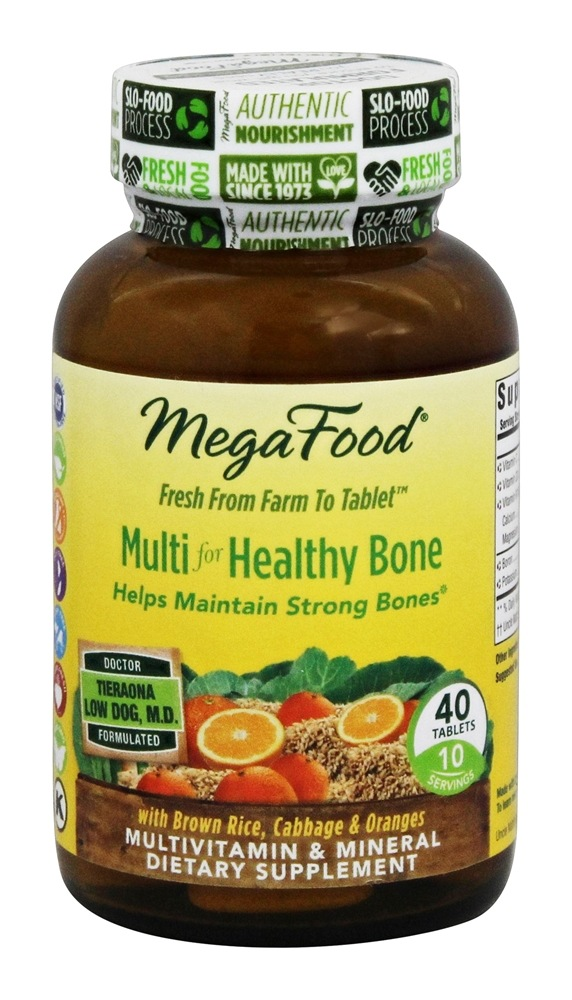 MegaFood - Multi for Healthy Bone - 40 Tablets