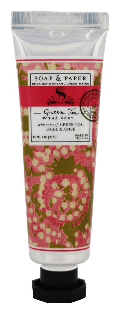 Soap & Paper - Shea Hand Cream Green Tea - 1 oz.