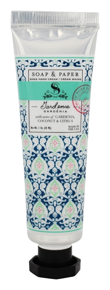 Soap & Paper - Shea Hand Cream Gardenia - 1 oz.