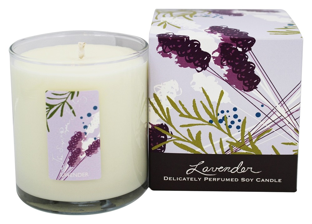 Soap & Paper - Delicately Perfumed Soy Candle Lavender - 9.5 oz.