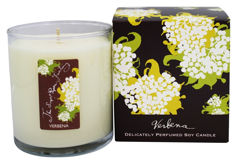 Soap & Paper - Delicately Perfumed Soy Candle Verbena - 9.5 oz.