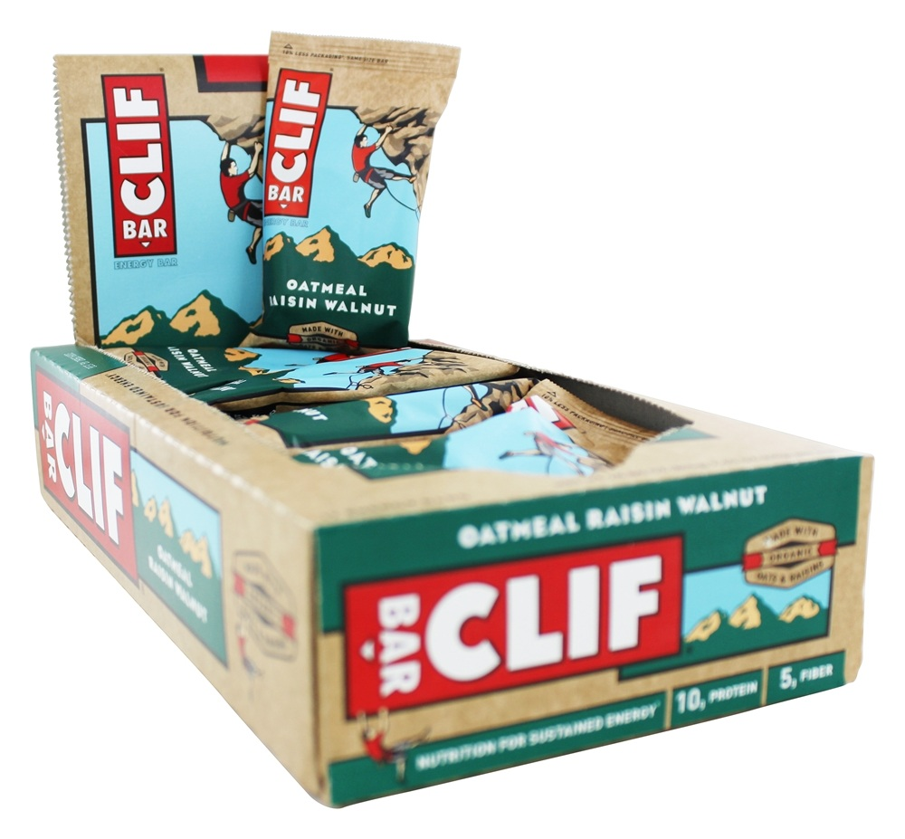 Clif Bar - Organic Energy Bars Box Oatmeal Raisin Walnut - 12 Bars