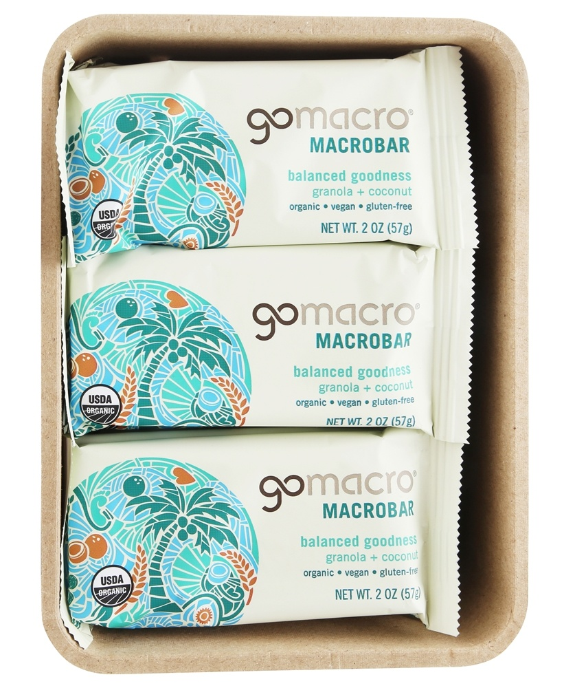 GoMacro - Organic MacroBar Balance Goodness Bars Box Granola & Coconut - 12 Bars