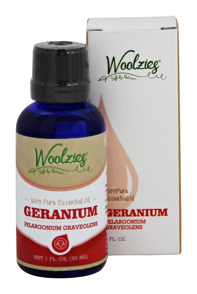 Woolzies - 100% Pure Geranium Essential Oil - 1 oz.
