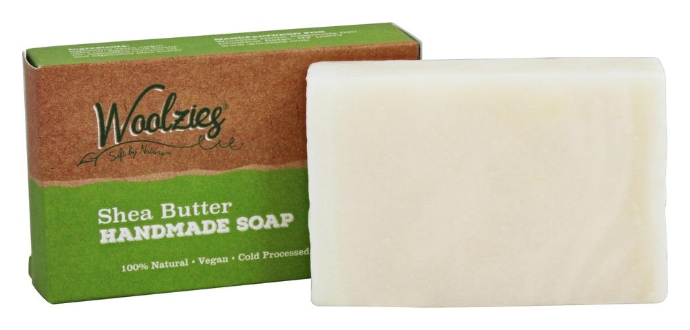 Woolzies - 100% Natural Handmade Soap Bar Shea Butter - 4 oz.