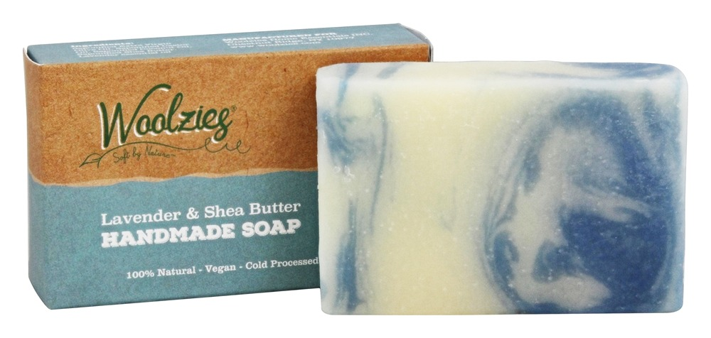Woolzies - 100% Natural Handmade Soap Bar Lavender and Shea Butter - 4 oz.