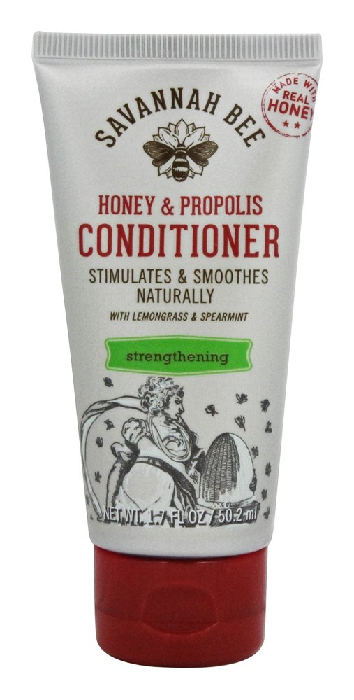 Savannah Bee - Honey & Propolis Strengthening Conditioner with Lemongrass & Spearmint - 1.7 oz.