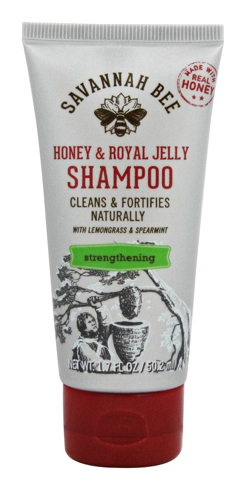 Savannah Bee - Honey & Royal Jelly Strengthening Shampoo with Lemongrass & Spearmint - 1.7 oz.