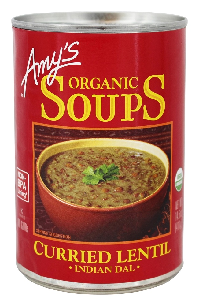 Amy's - Organic Soup Curried Lentil Indian Dal - 14.5 oz.