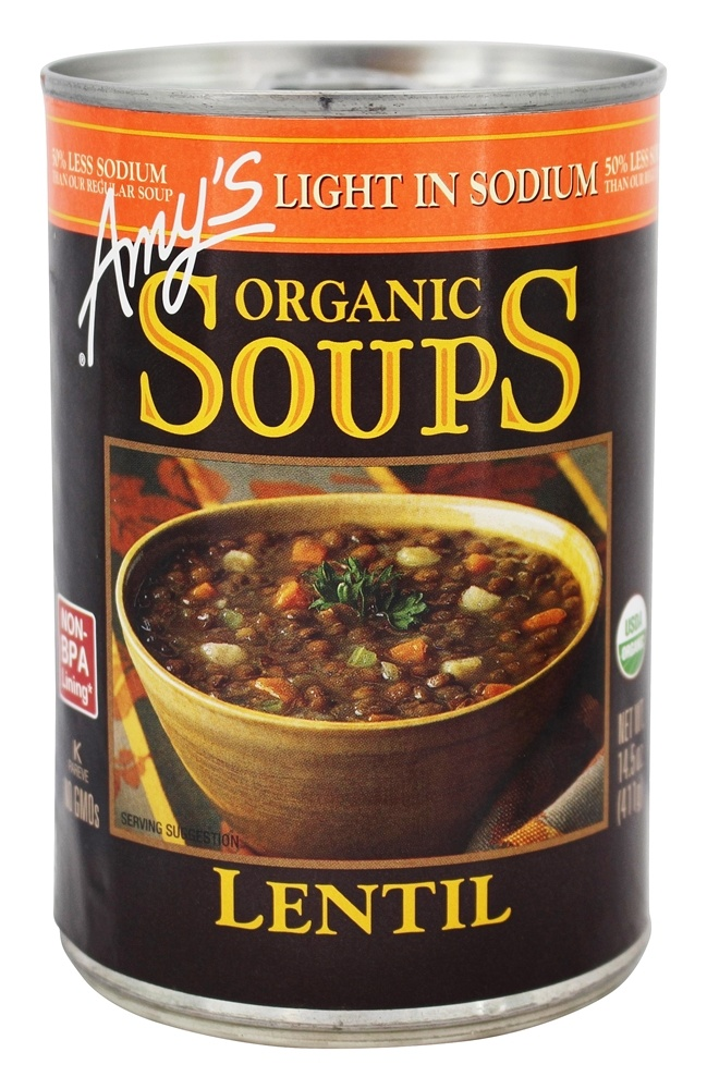 Amy's - Organic Low Sodium Soup Lentil - 14.5 oz.