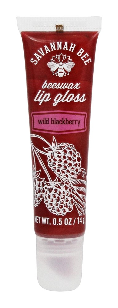 Savannah Bee - Beeswax Lip Gloss Wild Blackberry - 0.5 oz.