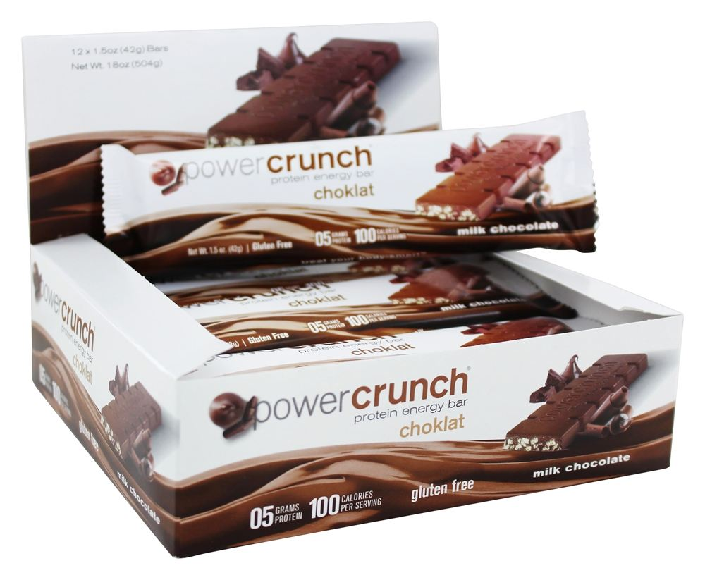 Power Crunch - Protein Energy Choklat Bars Box Milk Chocolate - 12 Bars