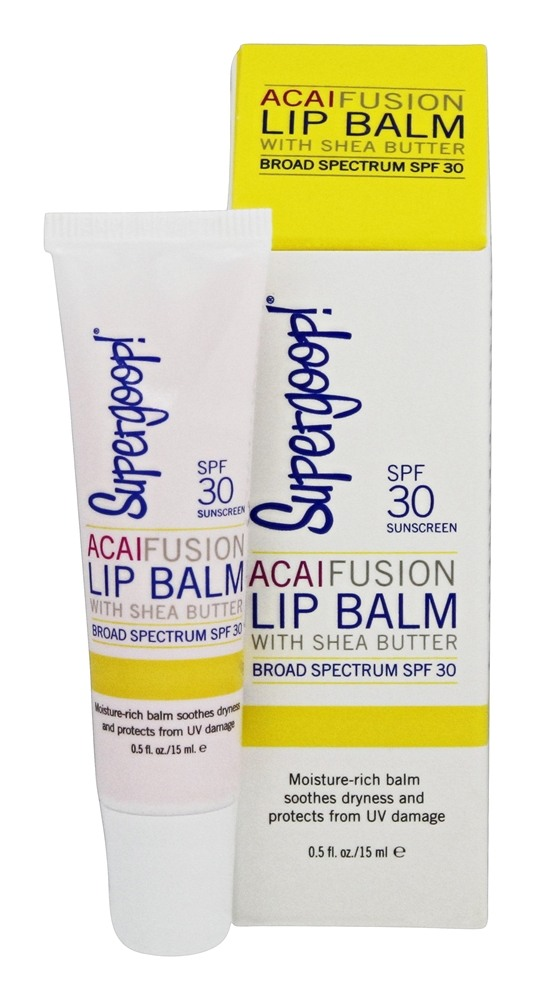 Supergoop! - Acai Fusion Lip Balm Broad Spectrum 30 SPF - 0.5 oz.