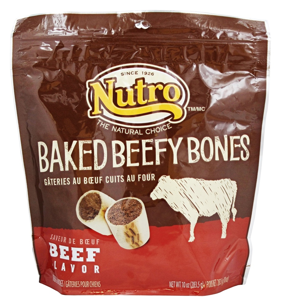 Nutro - Baked Beefy Bones Treats for Dogs Beef - 10 oz.
