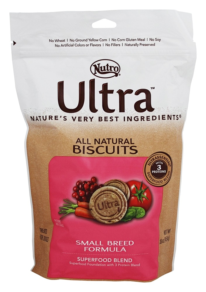 Nutro - Ultra All Natural Dog Biscuits Superfood Blend Small Breed Formula - 16 oz.