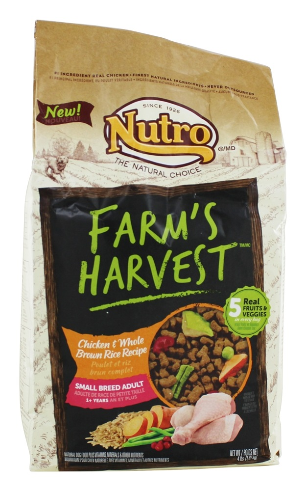 Nutro - Farm's Harvest Small Breed Adult Dog Food Chicken & Whole Brown Rice Recipe - 4 lbs.