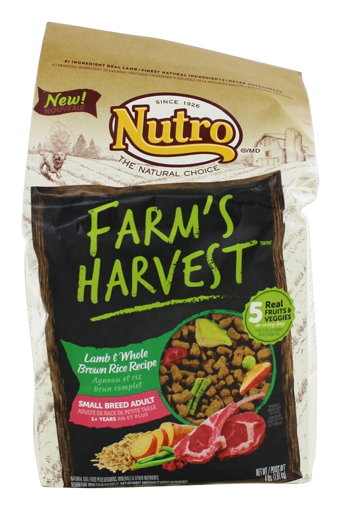 Nutro - Farm's Harvest Small Breed Adult Dog Food Lamb & Whole Brown Rice Recipe - 4 lbs.