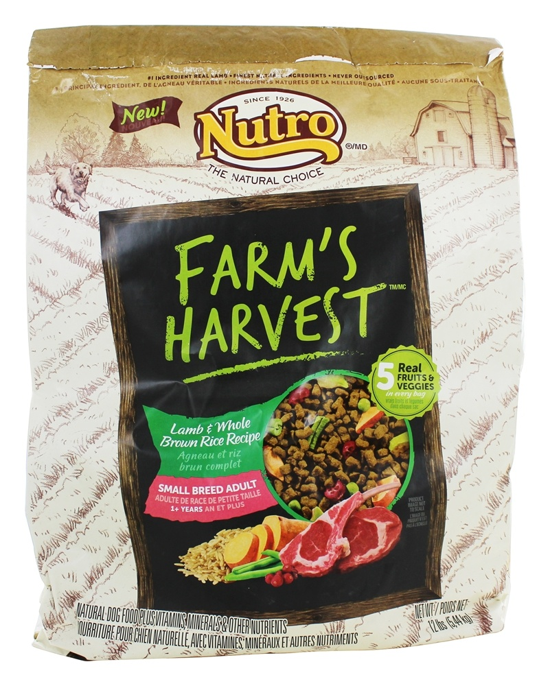 Nutro - Farm's Harvest Small Breed Adult Dog Food Lamb & Whole Brown Rice Recipe - 12 lbs.