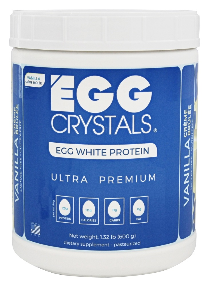 Egg Crystals - Egg White Protein Ultra Premium Vanilla Creme Brulee - 1.32 lb.