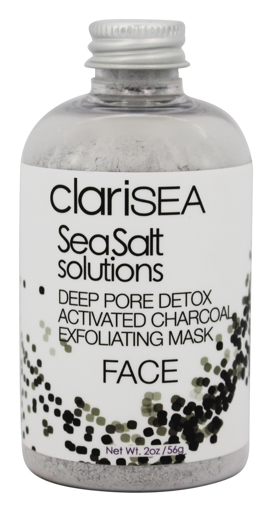 clariSEA - Seasalt Solutions Deep Pore Detox Activated Charcoal Exfoliating Face Mask - 2 oz.
