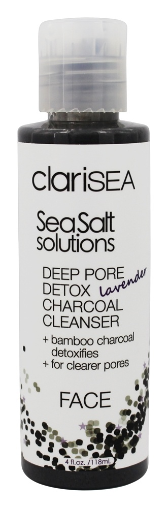 clariSEA - SeaSalt Solutions Deep Pore Detox Charcola Face Cleanser Lavender - 4 oz.
