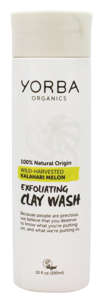 Yorba Organics - Exfoliating Clay Wash Wild-Harvested Kalahari Melon - 10 oz.