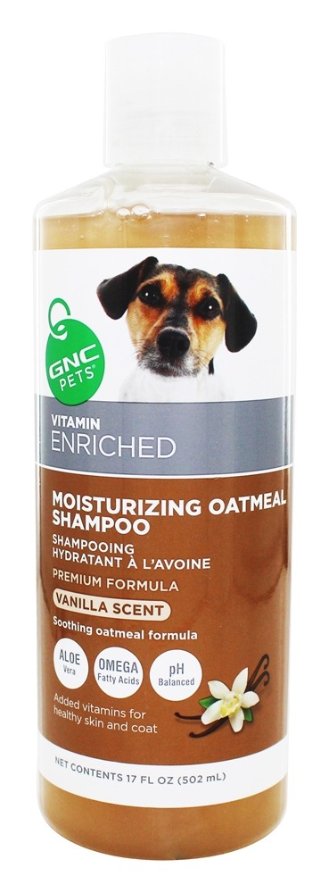 GNC Pets - Vitamin Enriched Moisturizing Oatmeal Shampoo For Dogs Vanilla Scent - 17 oz.
