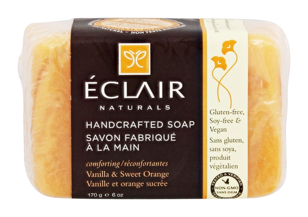 Eclair Naturals - Handcrafted Bar Soap Vanilla & Sweet Orange - 6 oz.
