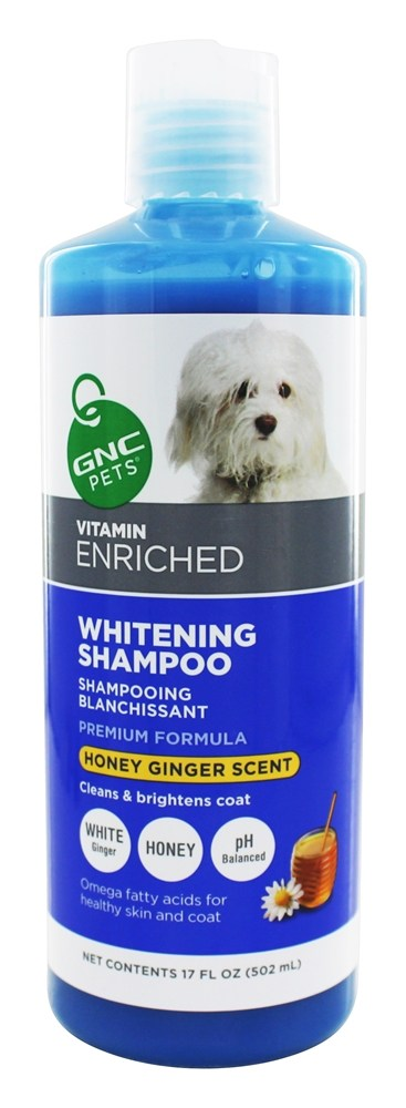 GNC Pets - Vitamin Enriched Whitening Shampoo For Dogs Energizing Honey-Ginger Scent - 17 oz.