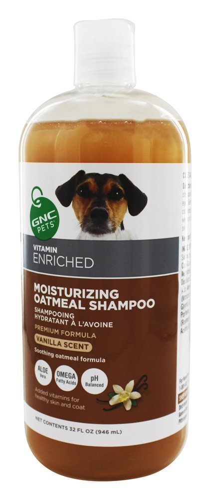 GNC Pets - Vitamin Enriched Moisturizing Oatmeal Shampoo For Dogs Vanilla Scent - 32 oz.