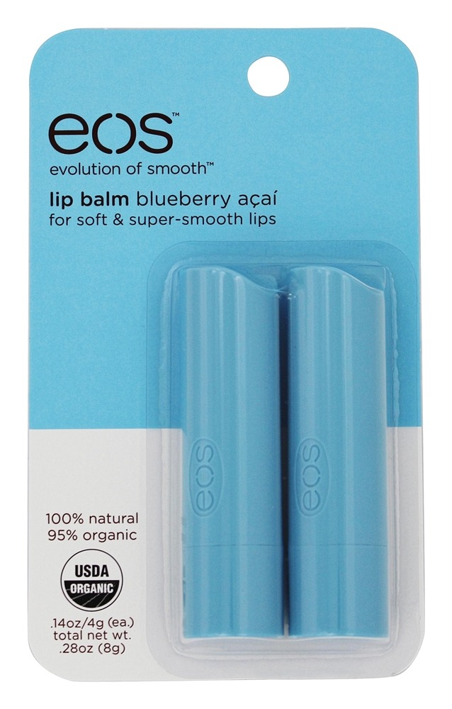 Eos Evolution of Smooth - Lip Balm Stick Blueberry Acai - 2 Pack