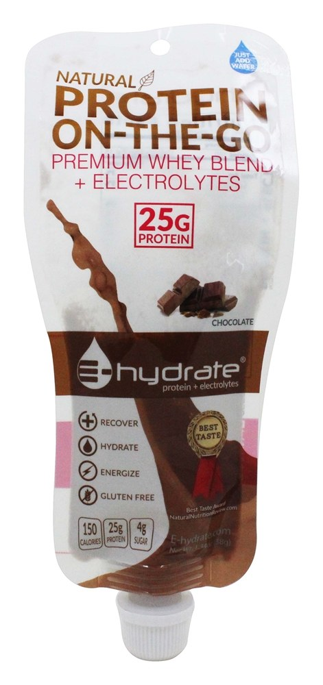 E-Hydrate - Natural Protein On-The-Go Chocolate - 1.34 oz.
