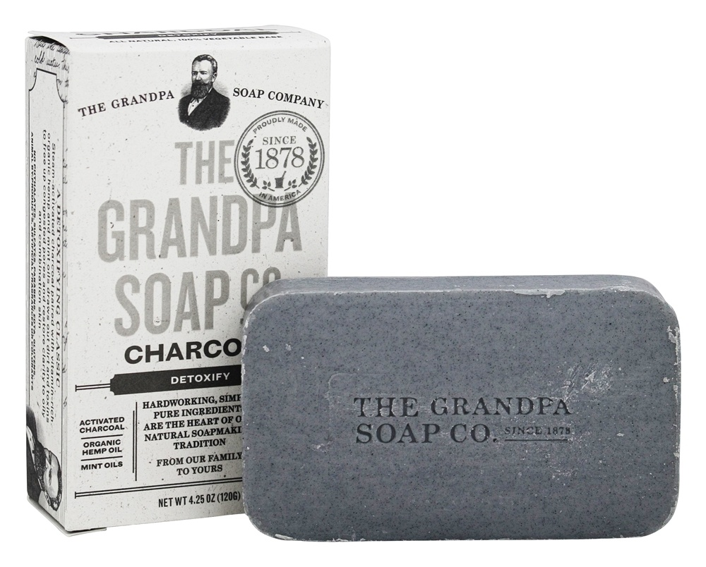 Grandpa's Soap Co. - Face & Body Bar Soap Charcoal - 4.25 oz.