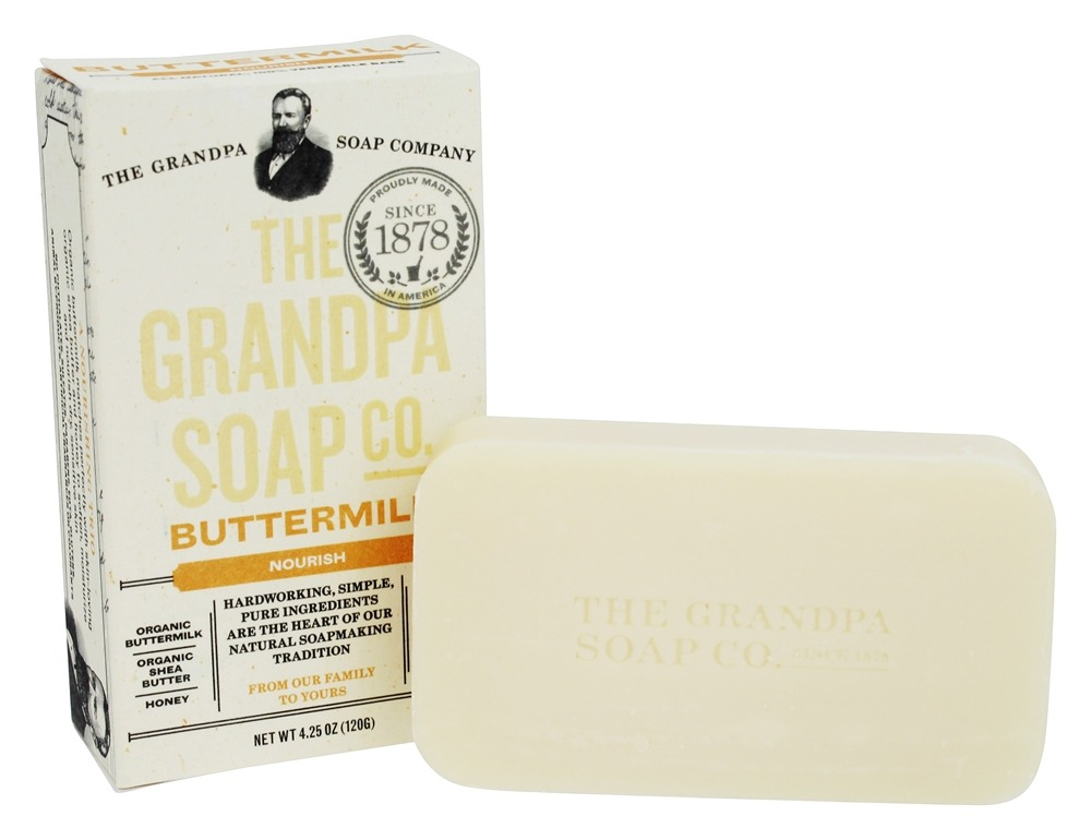 Grandpa's Soap Co. - Face & Body Bar Soap Buttermilk - 4.25 oz.