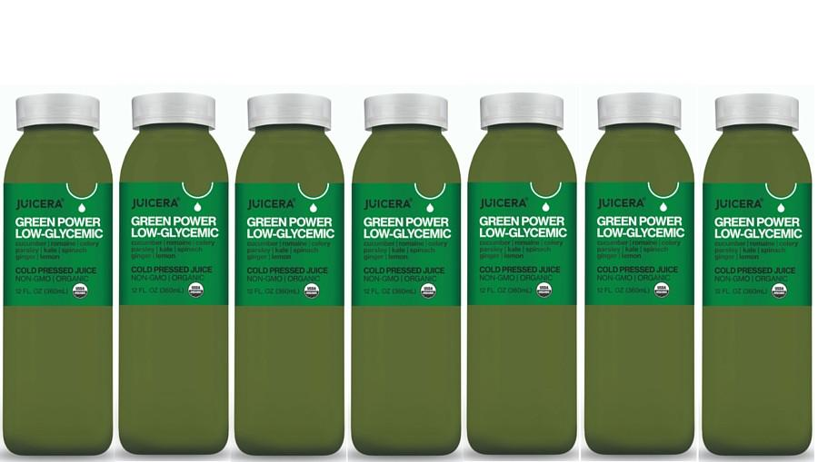 Juicera - Green Power Low Glycemic Organic Cold Pressed Juice 12 oz. - 7 Bottle(s)