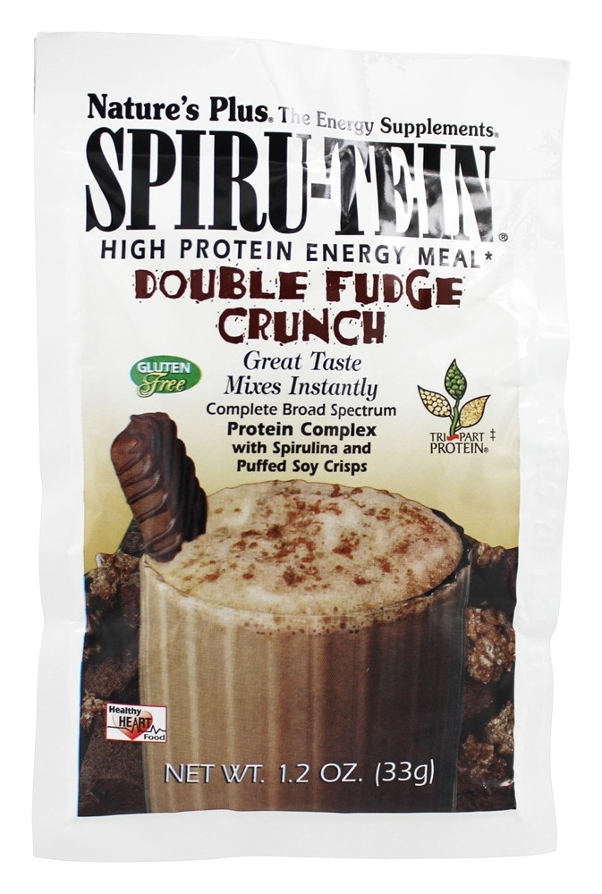 Nature's Plus - Spiru-Tein High Protein Energy Meal Double Fudge Crunch - 1 Packet