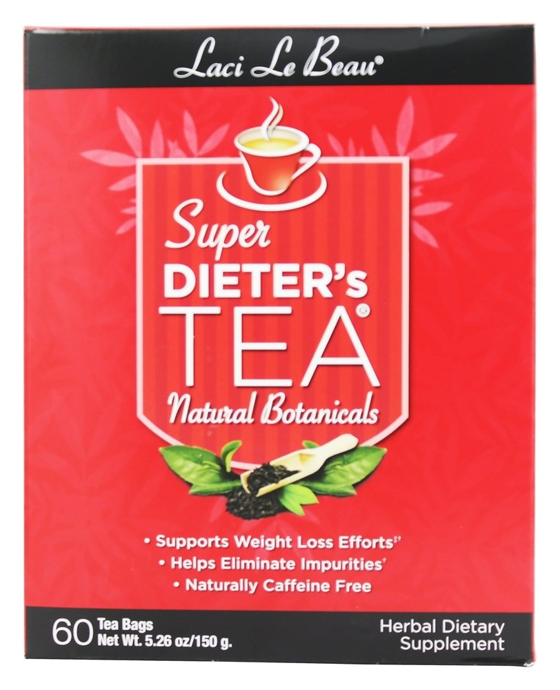 Laci Le Beau - Super Dieter's Tea All Natural Botanicals Caffeine Free - 60 Tea Bags