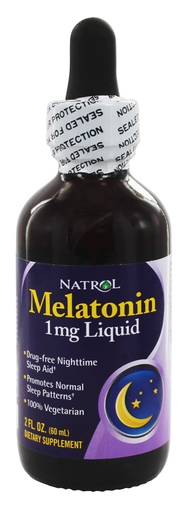 Natrol - Melatonin Liquid 1 mg. - 2 oz.