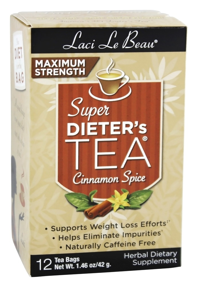 Laci Le Beau - Super Dieter's Tea Maximum Strength Caffeine Free Cinnamon Spice - 12 Tea Bags
