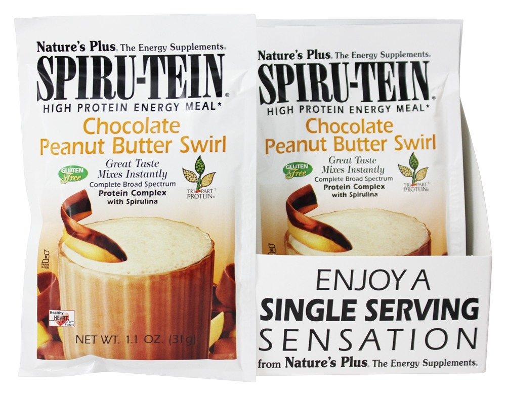 Nature's Plus - Spiru-Tein High Protein Energy Meal Chocolate Peanut Butter Swirl - 1 Packet