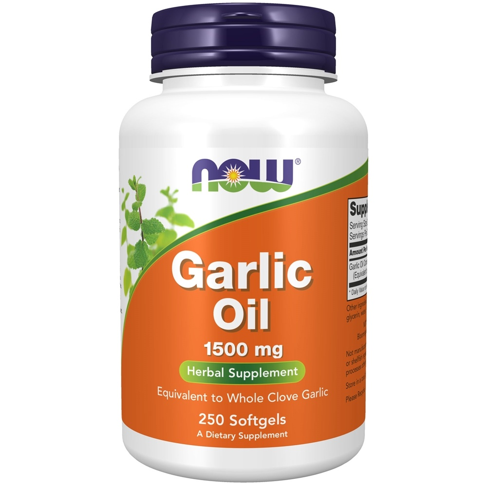 NOW Foods - Garlic Oil 1500 mg. - 250 Softgels