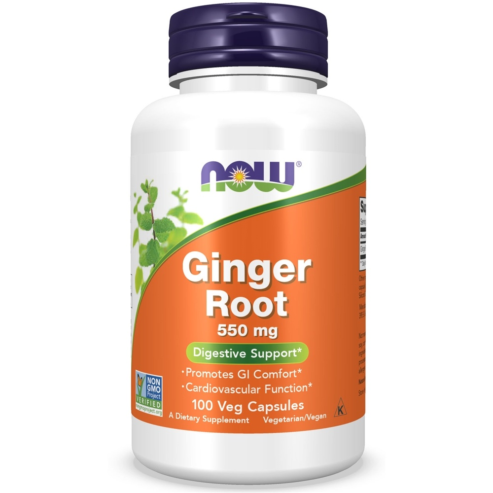 NOW Foods - Ginger Root 550 mg. - 100 Capsules