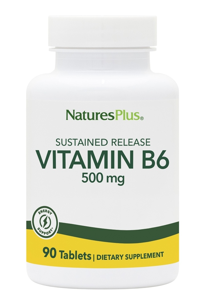 Nature's Plus - Vitamin B-6 Sustained Release 500 mg. - 90 Tablets