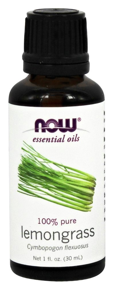 NOW Foods - 100% Pure Lemongrass Essential Oil - 1 oz.