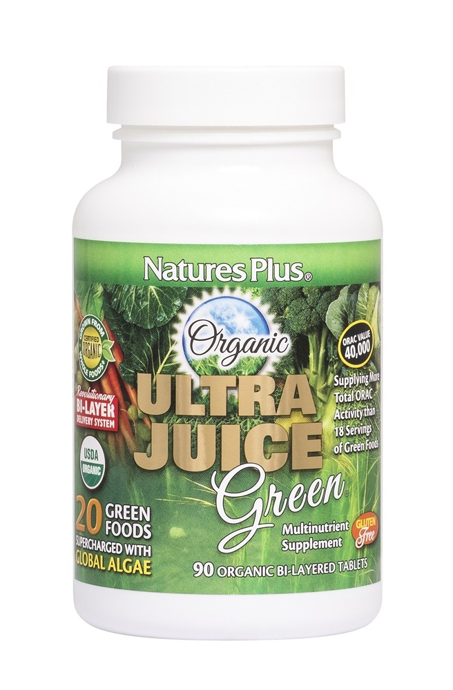 Nature's Plus - Organic Ultra Juice Green - 90 Tablets