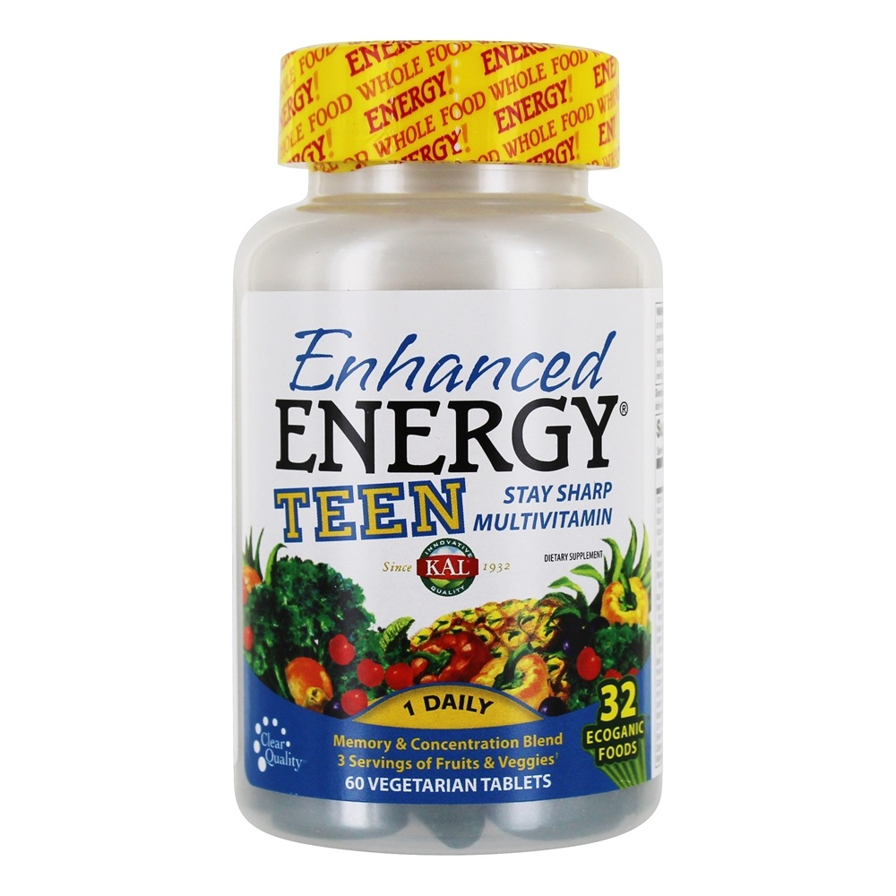 Kal - Enhanced Energy Teen Complete - 60 Vegetarian Tablets