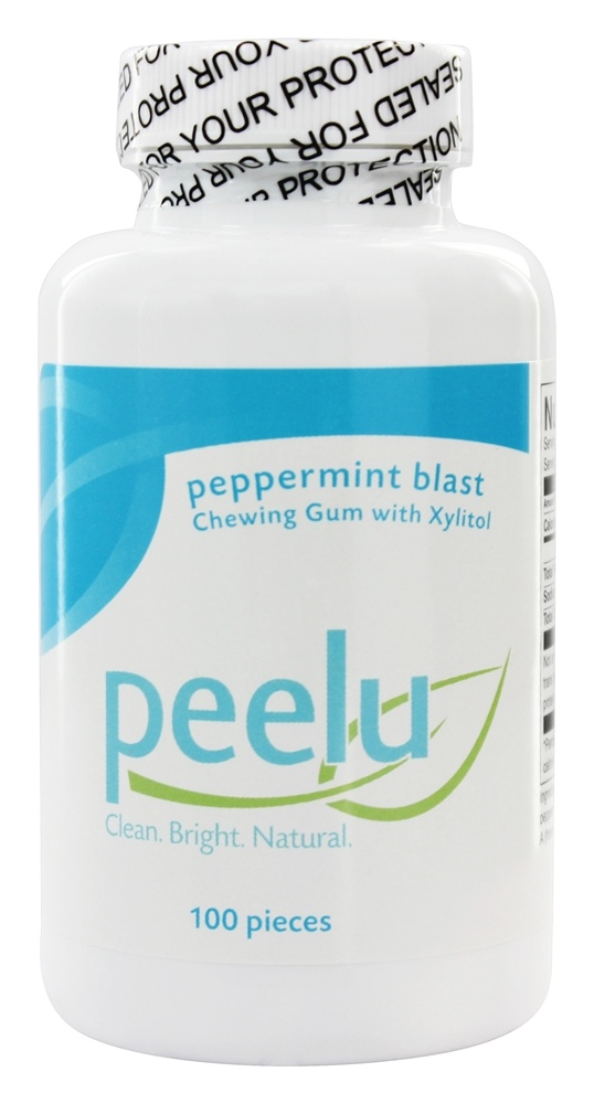 Peelu - Chewing Gum with Xylitol Peppermint - 100 Piece(s)